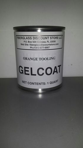 1 Quart Orange Tooling Gel Coat No-wax
